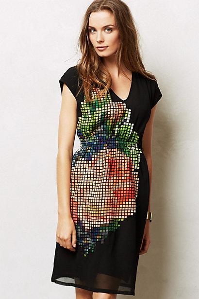 pixilated dress