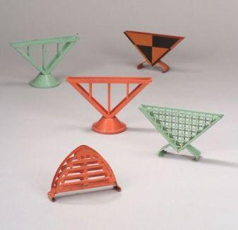 Five Marianne Brandt-Bauhaus Enameled Metal Napkin Holders.