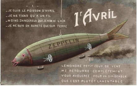 Poisson d'Avril zeppelin