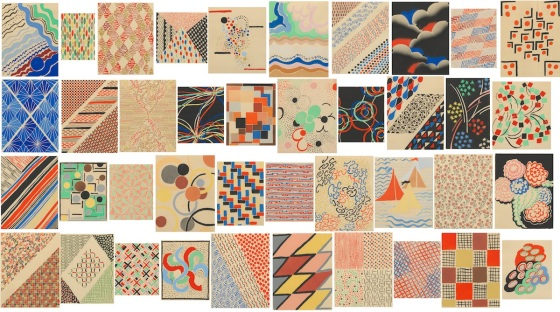 48. Suite of Forty Pochoirs, ca. 1930 by Sonia Delaunay-Terk (Ukranian, 1885-1979) 12 ¾ x 9 ¾ in paper size